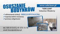 Baza produktów/usług Sebclean Sebastian Wiaderny