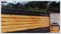 Ogrodzenie palisadowe model: PP002 PINO ogrodzenie z elementami imitującymi naturalne drewno